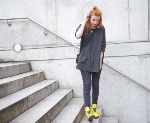 Outfit: Gelbe DocMartens // Stilbruch